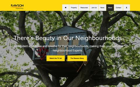 Screenshot of About Page rawson.co.za - About Us - Rawson Property Group - captured Sept. 22, 2014