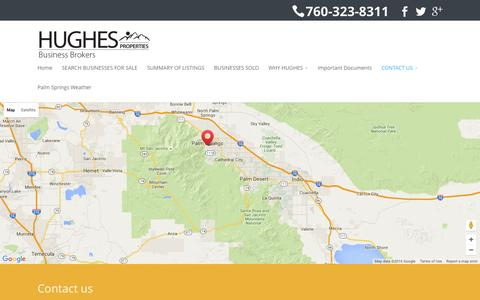 Screenshot of Contact Page hughesproperties.com - CONTACT US - Hughes Properties - captured Feb. 1, 2016
