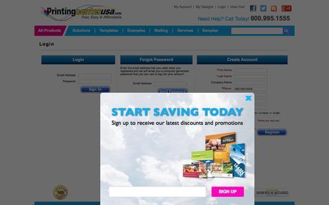 Screenshot of Login Page printingcenterusa.com - Printingcenterusa.com - captured Sept. 6, 2016