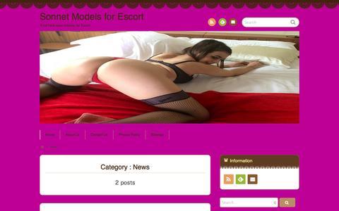 Screenshot of Press Page sonnetmodels.com - News  |  Sonnet Models for Escort - captured Oct. 1, 2014