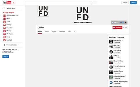 Screenshot of YouTube Page youtube.com - UNFD  - YouTube - captured Oct. 27, 2014