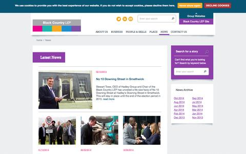 Screenshot of Press Page blackcountrylep.co.uk - Black Country LEP - captured Oct. 5, 2014