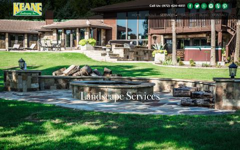 Screenshot of Services Page keanelandscaping.com - Dallas Landscaping Services | Lawn Maintenance Dallas - captured Oct. 28, 2017