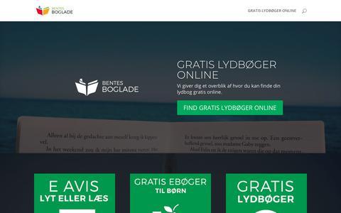 Screenshot of Home Page brboglade.dk - Gratis Lydbøger Online og e bøger. Bentes Boglade. - captured Oct. 30, 2018