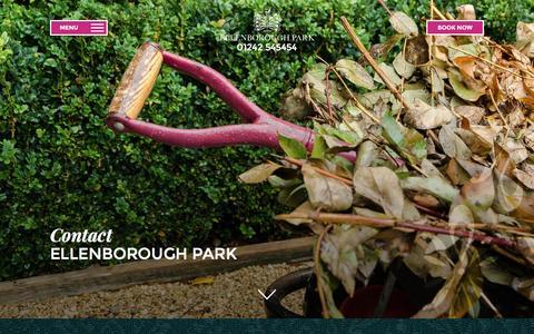Screenshot of Contact Page ellenboroughpark.com - Contact - Ellenborough Park - captured Jan. 17, 2016