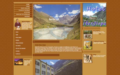 Screenshot of About Page Site Map Page hotelibexjispa.com - Hotel Ibex-Jispa Lahaul-Spiti H.P. India - captured Feb. 27, 2017