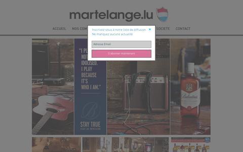 Screenshot of Home Page martelange.com - Bienvenue sur le site de Martelange.lu ! - captured May 6, 2017