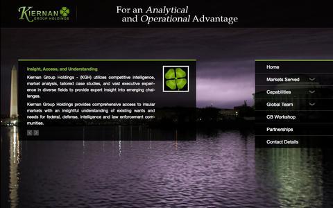 Screenshot of Home Page kiernan.co - Kiernan Group Holdings - captured Oct. 6, 2014