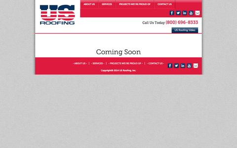 Screenshot of Case Studies Page us-roofing.com - US Roofing | Case Studies - captured Oct. 29, 2014
