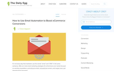 Screenshot of Blog crazyegg.com - Conversion Optimization and A/B Testing Tips from Crazy Egg - captured March 13, 2017