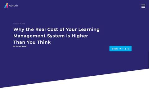 Screenshot of Pricing Page absorblms.com - Why the Real Cost of Your Learning Management System is Higher Than You Think   Absorb LMS Software - captured Jan. 11, 2020