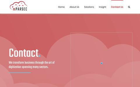 Screenshot of Contact Page mparsec.com - Get started – mParsec - captured Nov. 7, 2018