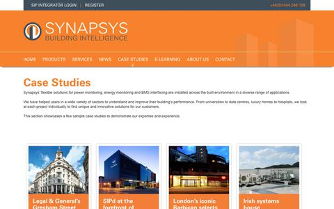 Screenshot of Case Studies Page synapsys-solutions.com - Case Studies | Synapsys Solutions - captured Oct. 19, 2018