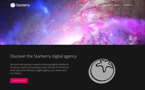 Screenshot of About Page starberry.tv - Starberry | About our digital agency | Starberry - captured Oct. 7, 2014