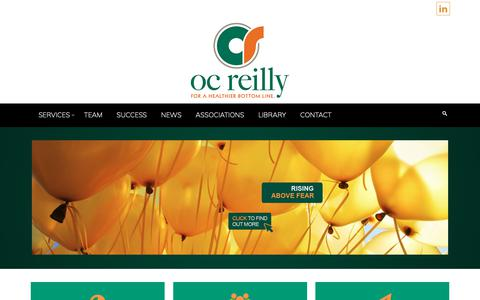 Screenshot of Home Page ocreilly.com - Healthcare Consulting | OC Reilly – Healthcare Consulting Supply Chain Management and Analysis Health Care Logistics Management and Inventory Control Medical Equipment Management Food Service and Dietary Services Management - captured Oct. 19, 2018