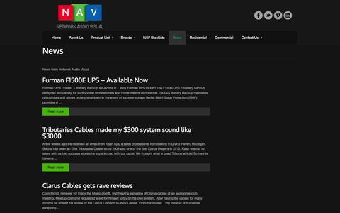 Screenshot of Press Page networkav.com.au - Network Audio Visual NewsNetwork Audio Visual - captured Oct. 26, 2014