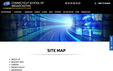Screenshot of Site Map Page gocsb.com - site map - captured Nov. 30, 2016