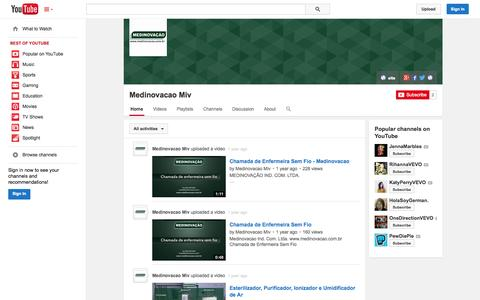 Screenshot of YouTube Page youtube.com - Medinovacao Miv  - YouTube - captured Nov. 3, 2014