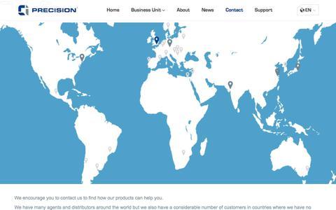 Screenshot of Contact Page ciprecision.com - Contact - CI Precision - captured Sept. 25, 2018