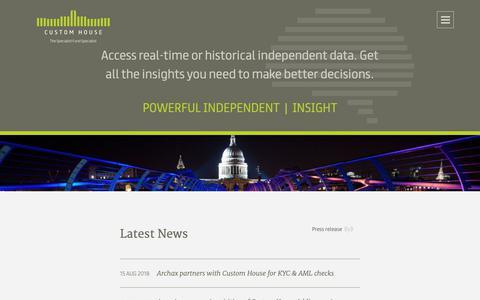 Screenshot of Press Page customhousegroup.com - Latest News - Custom House Group - captured Sept. 29, 2018