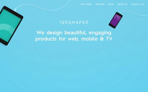 Screenshot of Home Page 100shapes.com - 100 Shapes – UX & Design studio, London - captured Oct. 7, 2014