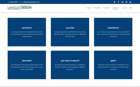 Screenshot of Support Page langleydesign.co.uk - Support - Langley Design - captured July 16, 2018