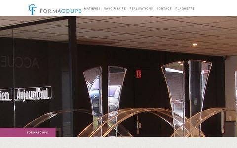 Screenshot of Login Page formacoupe.fr - Connexion  - D�coupe plexi - captured Jan. 8, 2016