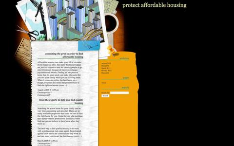 Screenshot of Home Page protectaffordablehousing.org - Protect Affordable Housing - captured Oct. 1, 2014