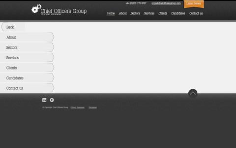 Screenshot of Menu Page chiefofficersgroup.com - It's who you know : Chief Officers Group - captured Sept. 29, 2014