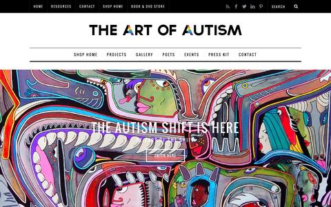 Screenshot of Home Page the-art-of-autism.com - The Art of Autism a collaboration of autistic artists, poets, and entertainers - captured Jan. 7, 2017