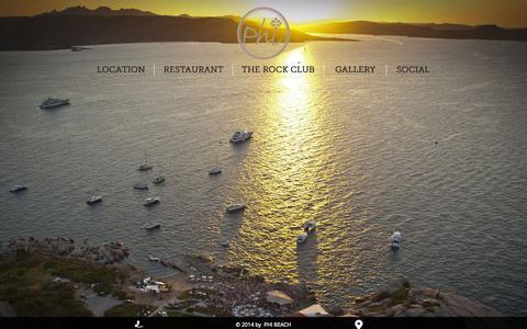 Screenshot of Home Page phibeach.com - phibeach - captured Jan. 28, 2015