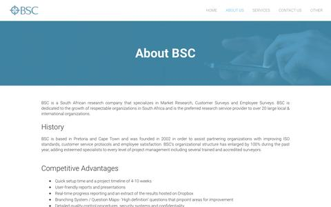 Screenshot of About Page businesssurveyconsultants.com - About BSC - Business Survey Consultants - Business Survey Consultants - captured Feb. 8, 2016