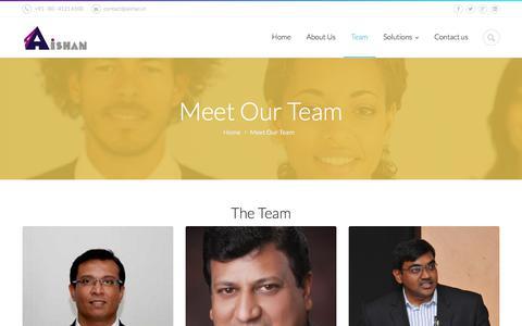 Screenshot of Team Page aishan.in - Meet Our Team | Aishan - captured Oct. 7, 2017