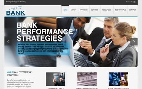 Screenshot of Home Page bank-ps.com - Bank Performance Strategies - Bank Performance Strategies - captured Jan. 28, 2015