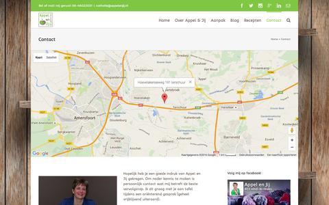 Screenshot of Contact Page appelenjij.nl - Contact | Appel en Jij (kinder)eetcoach - captured Feb. 6, 2016