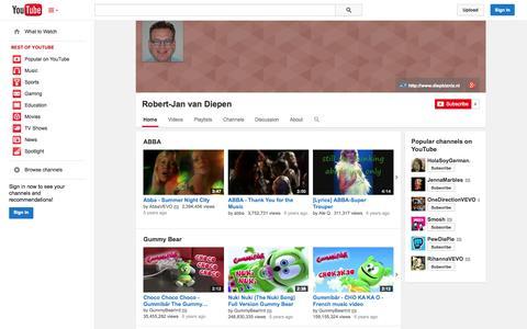 Screenshot of YouTube Page youtube.com - Robert-Jan van Diepen  - YouTube - captured Oct. 22, 2014