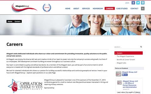 Screenshot of Jobs Page allagashgroup.com - Careers » Allagash Group - captured Oct. 4, 2014