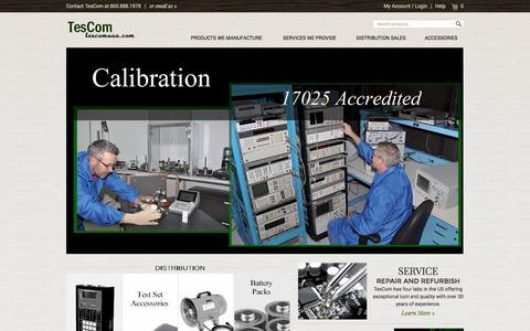 Screenshot of Home Page tescomusa.com - TesCom Home Page - captured Oct. 8, 2014