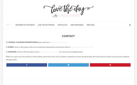 Screenshot of Contact Page love-the-day.com - CONTACT - Love The Day - captured Oct. 21, 2018
