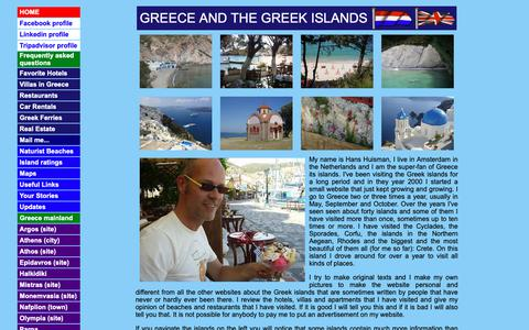 Screenshot of Home Page Maps & Directions Page fly2greece.net - The Greek islands, naturist beaches in Greece, car rentals and hotels on Crete, Rhodes, Corfu, Samos and other islands - captured Oct. 18, 2018