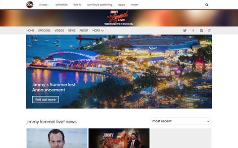 Screenshot of Press Page go.com - Jimmy Kimmel Live! | News & Blogs - captured May 3, 2017