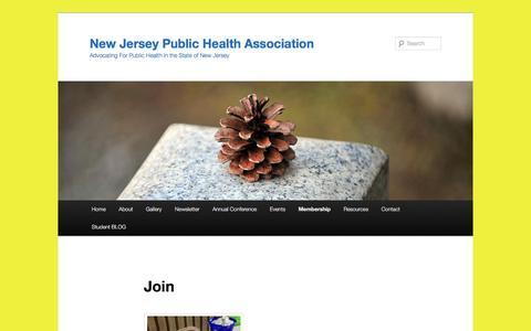 Screenshot of Signup Page njpha.org - Join   New Jersey Public Health Association - captured June 19, 2016