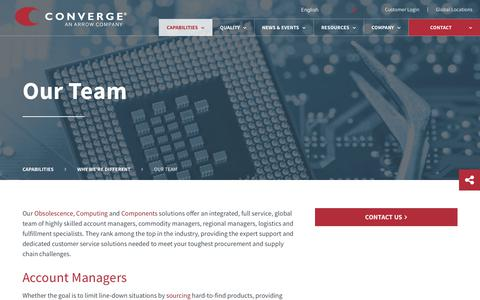 Screenshot of Team Page converge.com - Converge Team Provides Expert Support ▪ Converge - captured July 21, 2018