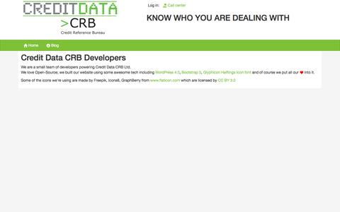 Screenshot of Developers Page creditdatamw.com - Developers - Credit Data CRB - captured Oct. 1, 2014