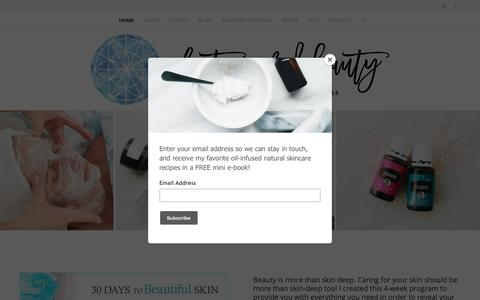 Screenshot of Home Page plant-powered-beauty.com - Plant Powered Beauty – plant powered beauty - captured Oct. 7, 2018