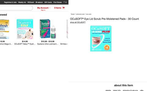 OCuSOFT® Eye Lid Scrub Pre-Moistened Pads - 30 Count : Target