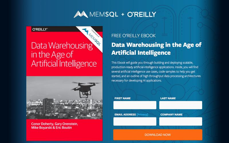 Free O'Reilly Book: Data Warehousing in the Age of Artificial Intelligence