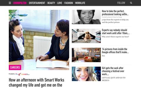 Screenshot of Jobs Page cosmopolitan.co.uk - Career advice and tips - how to get promoted and deal with your colleagues - captured Dec. 3, 2015