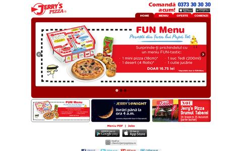 Screenshot of Home Page jerryspizza.ro - Jerry's Pizza - captured Oct. 1, 2015