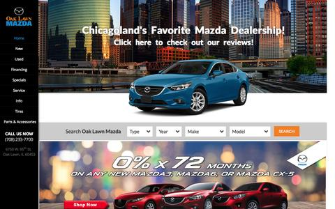 Screenshot of Home Page oaklawnmazda.com - Mazda Dealer Chicago located in Oak Lawn | Oak Lawn Mazda - captured Aug. 4, 2015